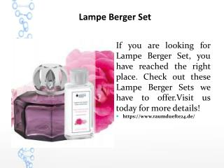 Lampe Berger Set