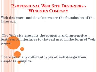 Desing Your Website With Wingmendesing Company