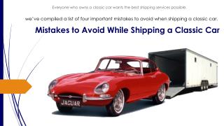 4 Mistakes to Avoid When Shipping a Car