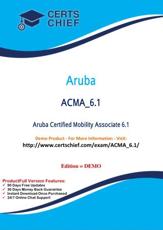 ACMA_6.1 Certification Practice Test