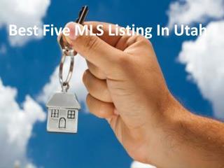 Best Five MLS Listings Utah.