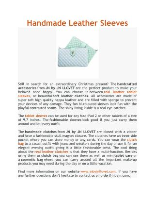 Handmade Leather Sleeves