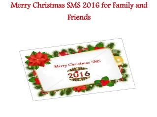 Merry Christmas 2016 SMS Messages