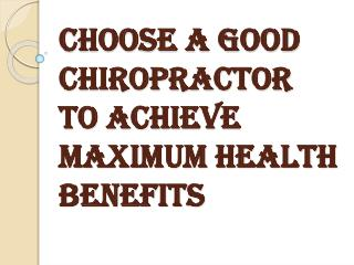 Necessary Conditions to Achieve Maximum Health Benefits