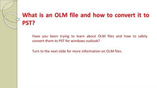 What is an OLM File