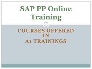 sap pp online training course content
