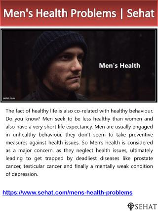Men's Health Problems | Sehat