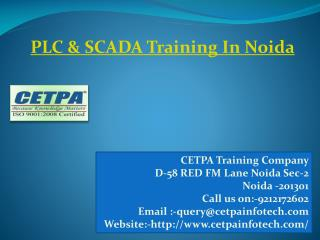 PLC  & SCADA Training in Noida