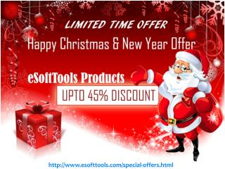 Merry Christmas and Happy New Year OFFER on eSoftTools Products