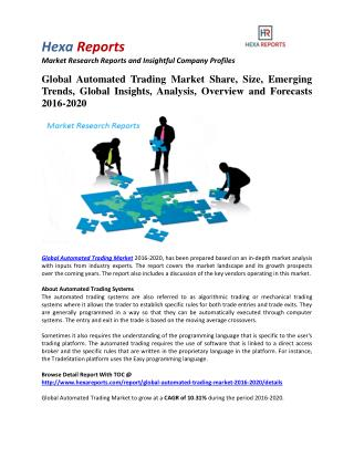 Automated Trading Market Share, Industry Growth And Overview 2016-2020: Hexa Reports