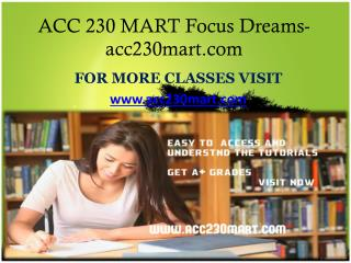 ACC 230 MART Focus Dreams -acc230mart.com