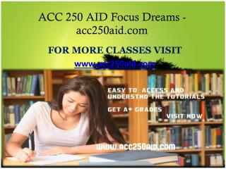 ACC 250 AID Focus Dreams - acc250aid.com
