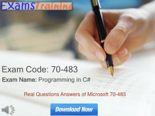 70-483 Real Exam Questions With Answers