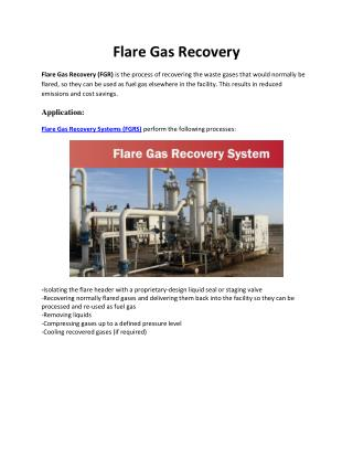 Flare Gas Recovery