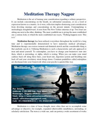 Meditation Therapy Nagpur