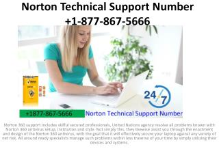 Norton Technical Support Number  1-877-867-5666