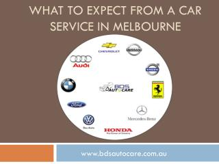 What to Expect From a Car Service in Melbourne