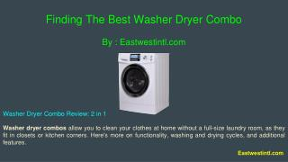 Finding The Best Washer Dryer Combo
