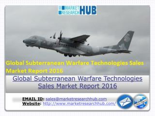 Global Subterranean Warfare Technologies Sales Market Report 2016