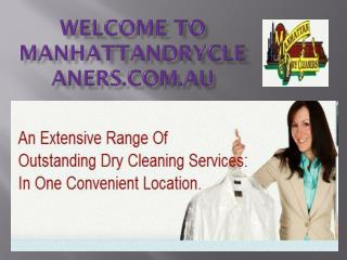 High quality curtains cleaning services at Manhattandrycleaners.com.au
