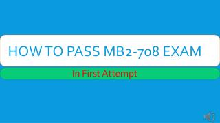 MB2-708 VCE Tests Dumps