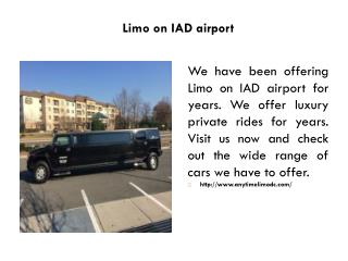 Limo on IAD airport