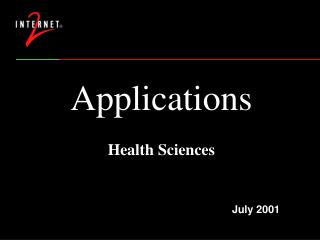 Applications  Health Sciences