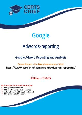 Adwords-Reporting Certification Guide