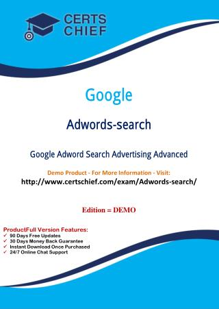 Adwords-Search Certification Guide