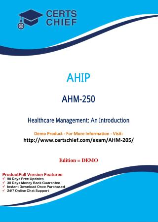 AHM-250 Certification Guide