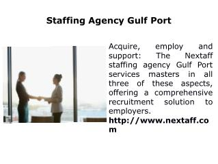 Staffing Agency Gulf Port