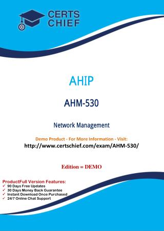 AHM-530 Certification Guide