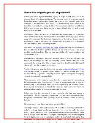 Get Creative Social Media, Digital, Ecommerce, Online Marketing Virgin Islands
