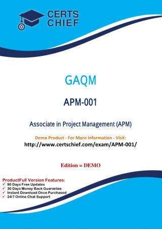 APM-001 Exam Questions Answers