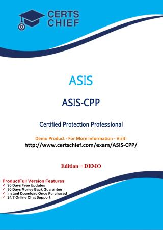 ASIS-CPP Exam Questions Answers