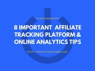 Clickticker - Affiliate Tracking Platform - Online Analytics