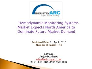 Hemodynamic Monitoring Systems Market Happy With Hospital Adoption Rates | IndustryARC