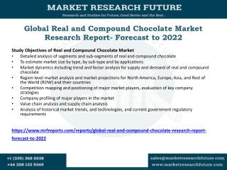 Global Real and Compound Chocolate Market Research Report- Forecast to 2022