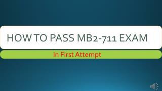 MB2-711 PDF Dumps