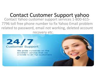 yahoo Password Recovery 24X7 Active for Aiding You with Assistance!