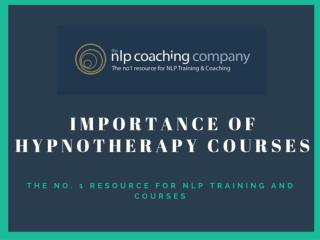 Importance ofHypnotherapy Courses