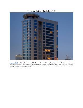 Aryana Hotels Sharjah, UAE