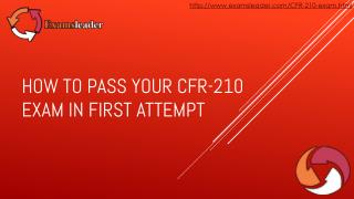 Examsleader CFR-210 Real Exam Questions