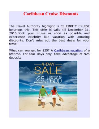 Caribbean Cruise Discounts