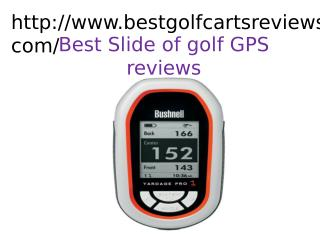 Golf GPS Reviews and Buying Guide