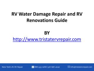 RV Water Damage Repair and RV Renovations Guide