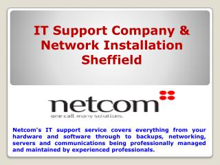 IT Support & Network Installation Sheffield