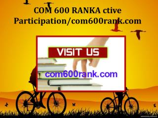 COM 600 RANK Active Participation/com600rank.com