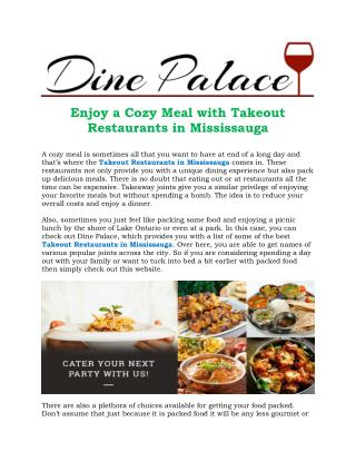 Takeout Restaurants In Mississauga Dine Palace