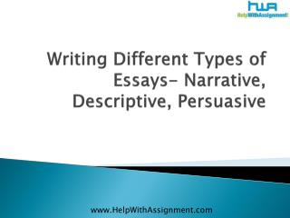 Writing different types of essays  narrative